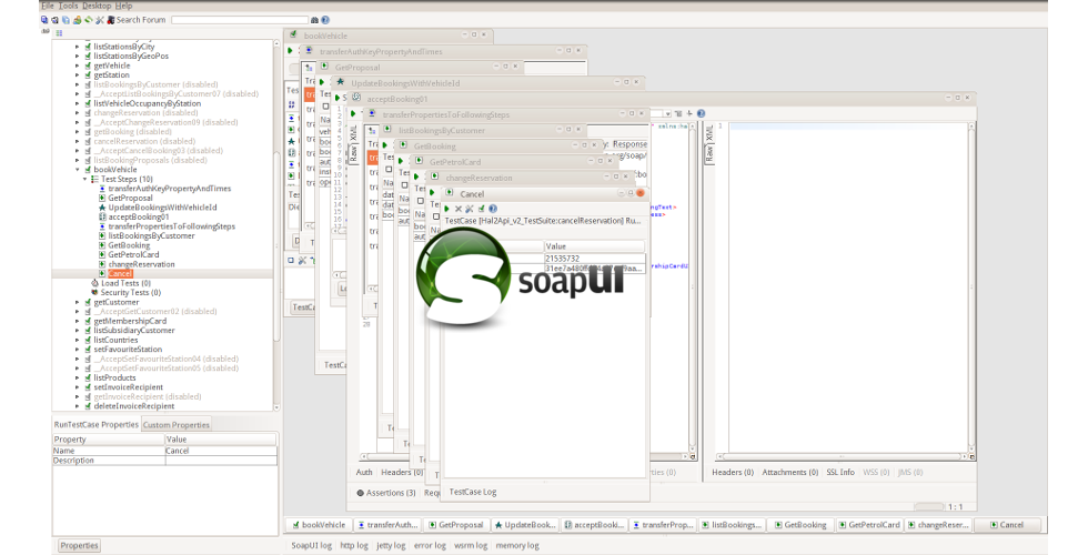 SoapUI w Background